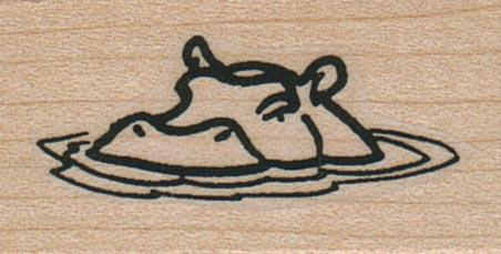 Hippo Head In Water 1 x 1 1/2-0