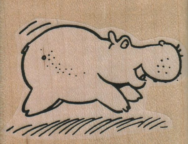 Hippo Running 2 1/4 x 1 3/4-0