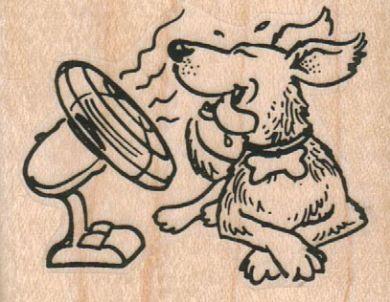 Dog With Fan 2 1/4 x 1 3/4-0