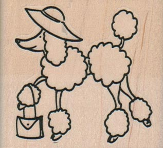 Poodle With Purse 2 1/4 x 2-0