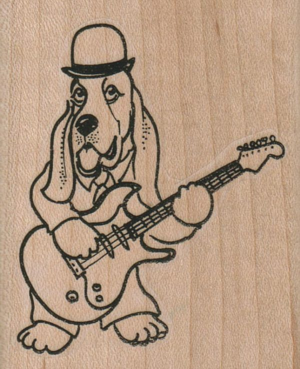 Hound Dog With Guitar 2 1/4 x 2 3/4-0