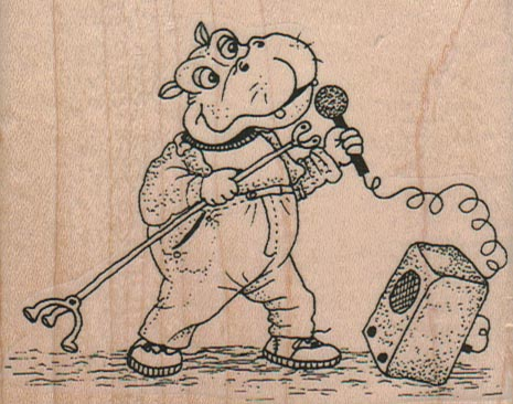 Singing Hippo 3 1/4 x 2 1/2-0