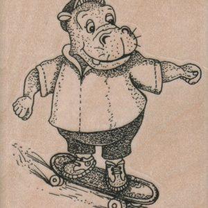 Hippo Skateboarding 2 3/4 x 3 1/4-0