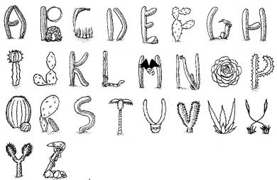Cactus Alphabet Mounting Kit-0
