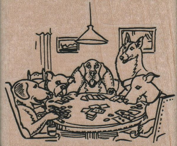Dogs Playing Poker 2 3/4 x 2 1/4-0