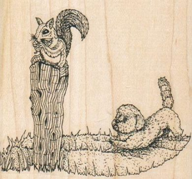 Li'l Herman Stalking Squirrel 3 x 2 3/4-0