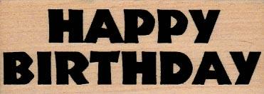 Happy Birthday (Bold/Large) 1 1/2 x 3 3/4-0