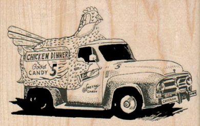 Chicken Truck 3 1/4 x 2-0