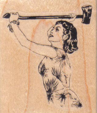 Lady With Axe 2 1/4 x 2 1/2-0