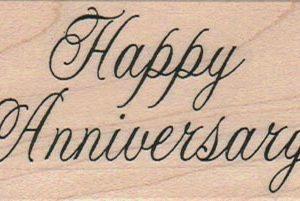 Happy Anniversary (Script) 1 1/2 x 2 1/2-0