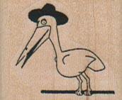 Stork In Hat 1 1/4 x 1-0