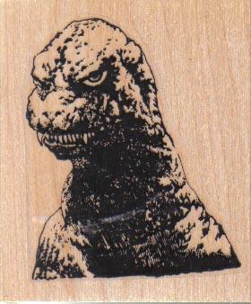 Angry Godzilla 2 x 2 1/4-0