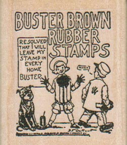 Buster Brown Rubber Stamps 1 3/4 x 2-0