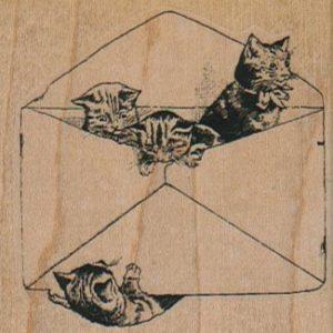 Envelope Kitties 2 1/4 x 2 1/4-0