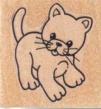 Kitty Cat 1 1/2 x 1 1/2-0