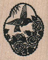 Bird & Flowers 1 1/2 x 1 3/4-0