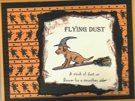 Dog Witch On Broom 2 3/4 x 2-34460