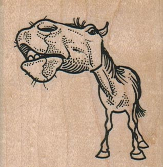 Big Headed Horse 2 1/4 x 2 1/4-0