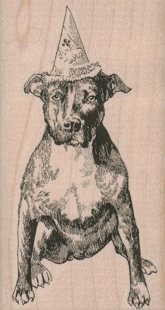 Pit Bull Party Dog 2 x 3 1/2-0