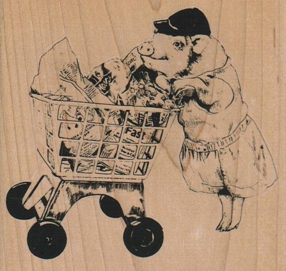 Piggie Shopper 3 3/4 x 3 1/2-0