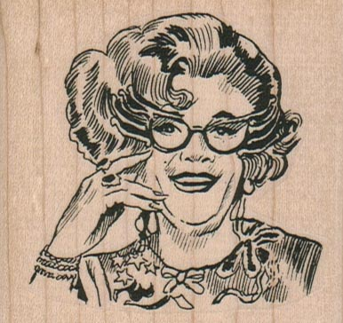 Glasses Lady 2 3/4 x 2 1/2-0