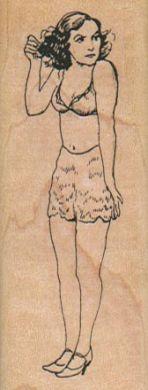 Scantily Clad Lady 1 1/4 x 3-0