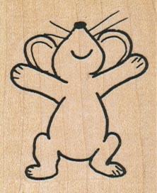 Joyful Mouse 1 3/4 x 2-0
