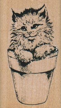 Kitty In Pot 1 1/2 x 2 1/2-0