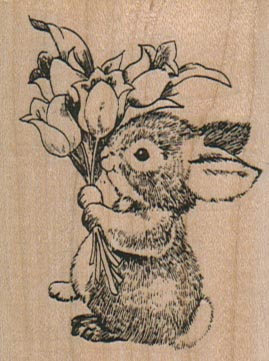 Bunny With Bouquet/Large 2 x 2 1/2-0
