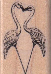 Flamingos Kissing/Small 1 1/2 x 2 1/4-0