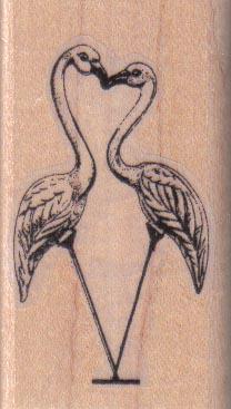 Flamingos Kissing/Small 1 1/2 x 2 1/4-0