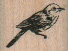 Bird Facing Right/Small 1 x 3/4-0