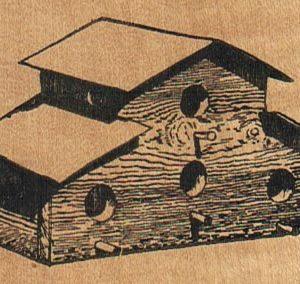 Birdhouse Four Hole 2 3/4 x 2-0