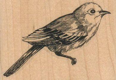 Bird Facing Right/Large 3 x 2-0