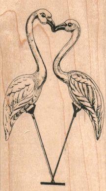 Flamingos Kissing/Large 2 1/2 x 4 1/2-0