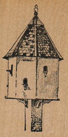 Birdhouse/Peaked Roof 1 3/4 x 3 1/4-0