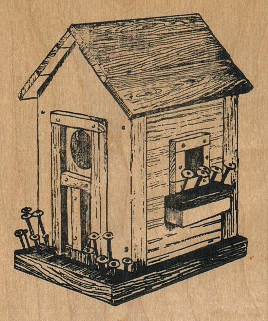 Birdhouse/Plank Roof/Lg 3 3/4 x 4 1/2-0