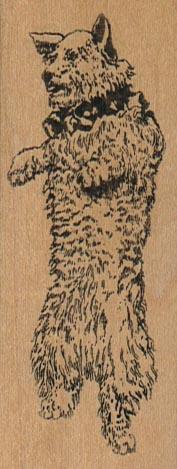 Standing Terrier Dog 1 3/4 x 3 1/4-0