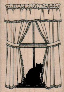 Cat In Window 2 x 2 3/4-0