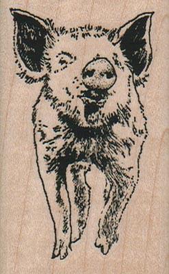 Pig Running Forward 1 3/4 x 2 3/4-0