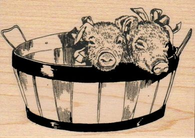 Pigs In Basket/Large 3 x 4-0