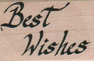 Best Wishes (Script) 1 1/2 x 2 1/4-0