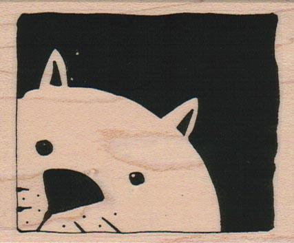 Kitty Peeking 2 1/2 x 3-0