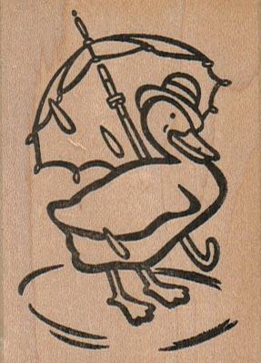 Duck With Umbrella 2 x 2 3/4-0