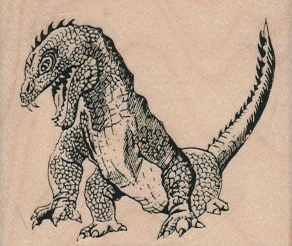 Snarling Godzilla 3 x 2 1/2-0