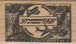 50 Years Of Flight Postoid 1 x 1 3/4-0