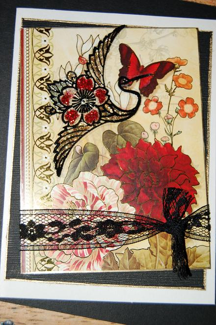 Flower Elegant Bird 2 1/2 x 3-37476
