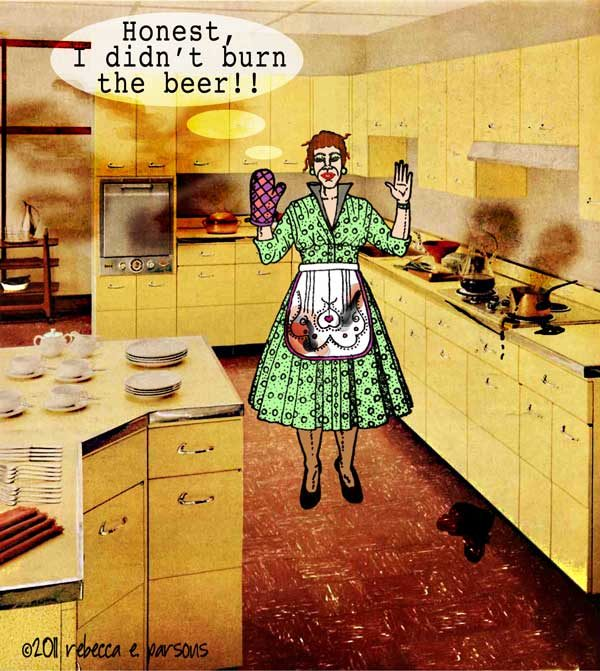 Housewife With Oven Mitt 2 x 3 1/2-32077