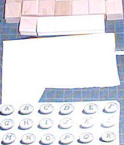 Chocolate Candy Alphabet MountingKit-0