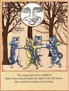 Cat Dance 3 3/4 x 2 3/4-32963
